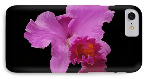 IPhone Case featuring the photograph Painted Orchid by Phyllis Denton