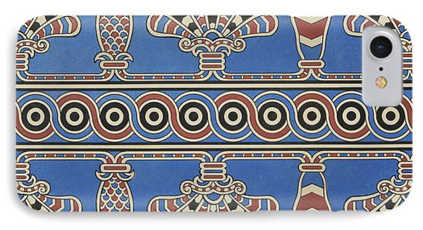 Painted Ornaments From Nimroud, From Monuments Of Nineveh IPhone Case by Austen Henry Layard