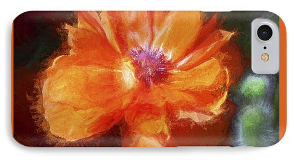 Painted Poppy IPhone Case by Christina Lihani