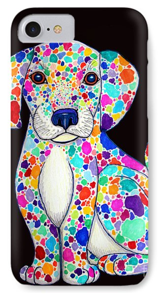 Painted Puppy 2 Phone Case by Nick Gustafson