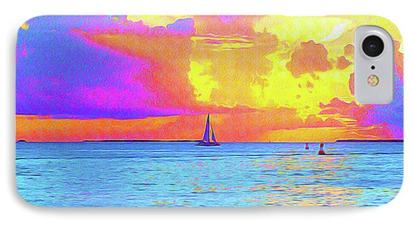 Painted Sails Key West IPhone Case by Chris Andruskiewicz
