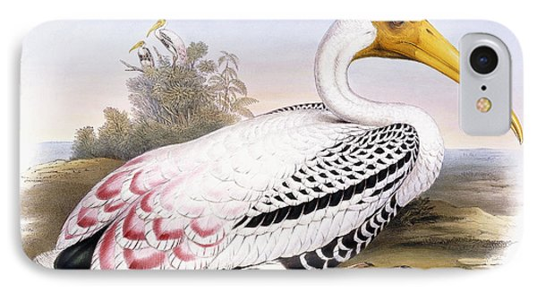 Painted Stork IPhone 7 Case