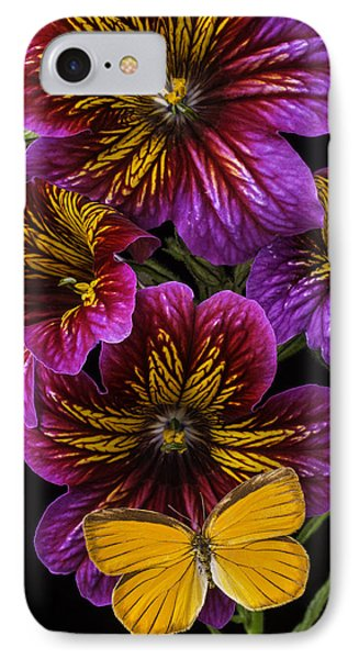 Painted Tongue With Orange Butterfly IPhone Case by Garry Gay