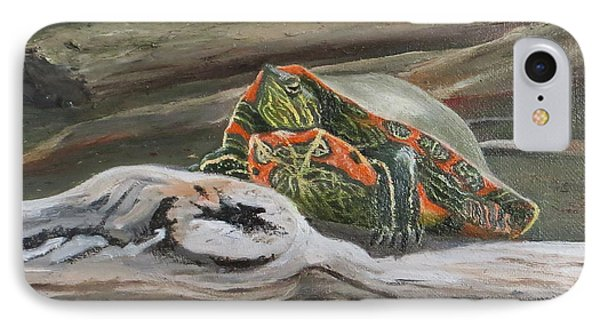 IPhone Case featuring the painting Painted Turtle by Bonnie Heather