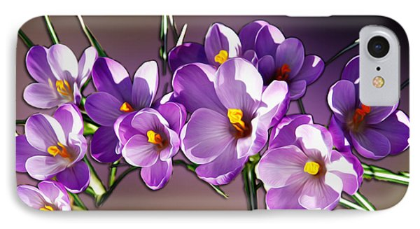 IPhone Case featuring the photograph Painted Violets by John Haldane