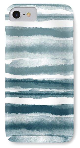Painterly Beach Stripe 1- Art By Linda Woods IPhone Case