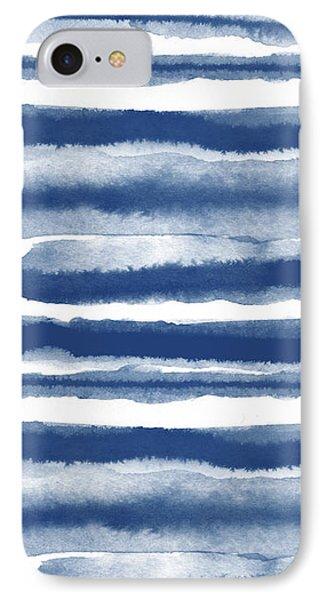 Painterly Beach Stripe 3- Art By Linda Woods IPhone Case