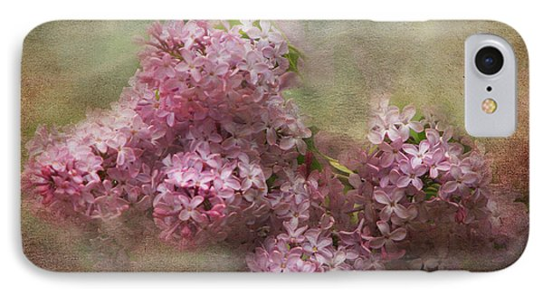 Painterly Lilac Blossom Photograph IPhone Case