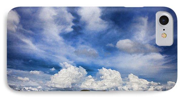 Painterly Sky Over Oklahoma IPhone Case by Toni Hopper