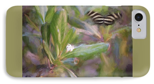 Painterly Zebra Butterfly IPhone Case