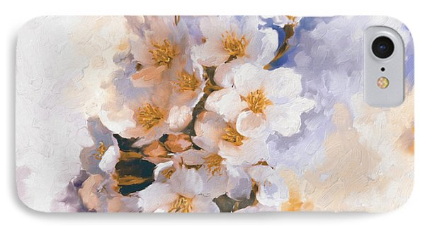 Painting 377 3 Cherry Blossoms IPhone Case by Mawra Tahreem