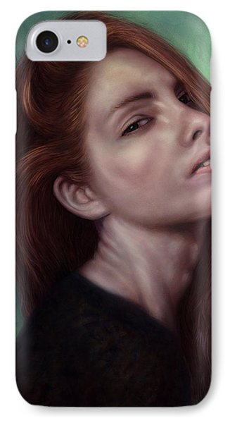 Painting Of A Woman I Will Never Know IPhone Case by James W Johnson