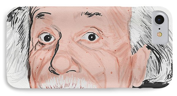 Painting Of Albert Einstein IPhone Case