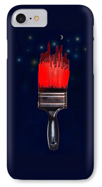 Painting The Town Red Phone Case by Jane Schnetlage