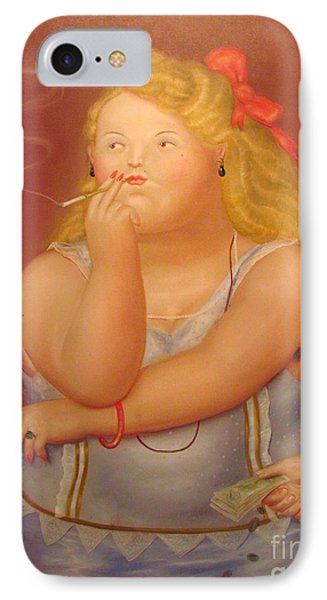 Painting Woman IPhone Case by Ted Pollard