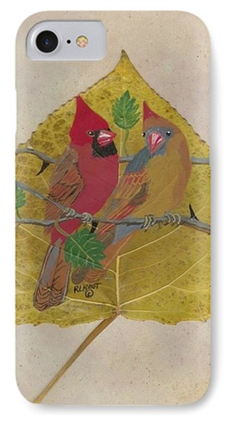 Pair Of Cardinals IPhone Case by Ralph Root