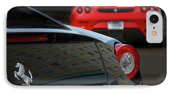 IPhone Case featuring the photograph Pair Of Ferraris by Dennis Hedberg