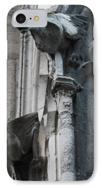 IPhone Case featuring the photograph Pair Of Griffons Of Notre Dame by Christopher Kirby