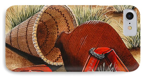 IPhone Case featuring the painting Paiute Baskets by Jennifer Lake