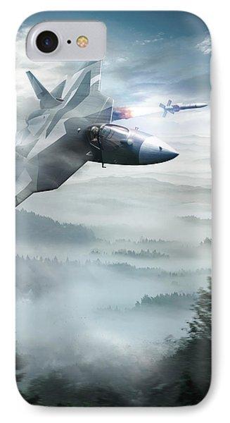 Pak Fa Aka T-50 - Russian Fifth-generation Fighter Jet Phone Case by Anton Egorov