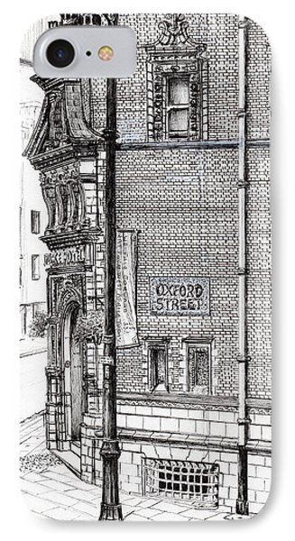 Palace Hotel Oxford Street Manchester IPhone Case by Vincent Alexander Booth