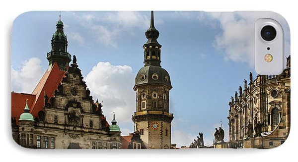 Palace Square In Dresden Phone Case by Christine Till