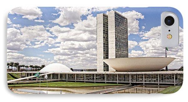 IPhone Case featuring the photograph Palacio Do Congresso Nacional by Kim Wilson