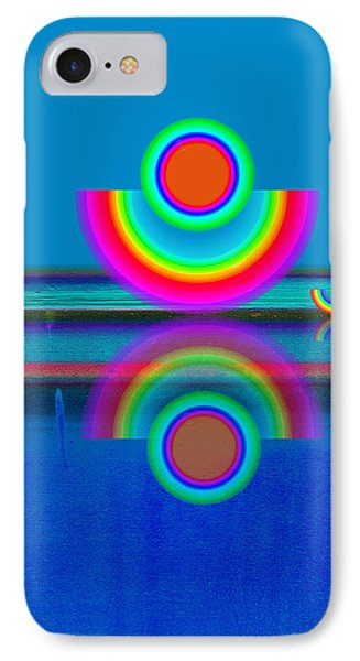 Pale Blue Reflections Phone Case by Charles Stuart