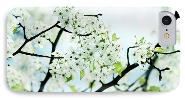 IPhone 7 Case featuring the photograph Pale Pear Blossom by Jessica Jenney