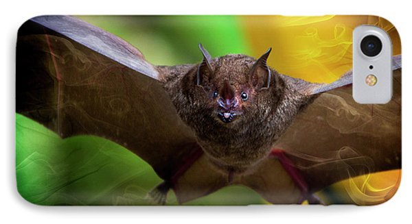 IPhone Case featuring the photograph Pale Spear-nosed Bat In The Amazon Jungle by Al Bourassa