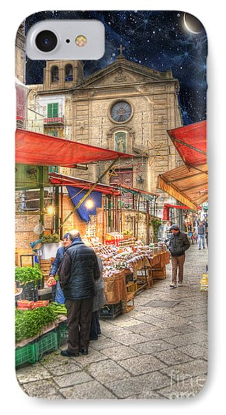 Palermo Market Place IPhone Case by Juli Scalzi