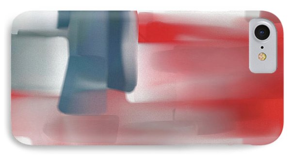 Palette Knife Abstract American Flag IPhone Case by Dan Sproul