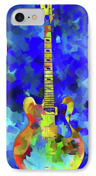 Palette Knife Colorful Guitar IPhone Case by Dan Sproul