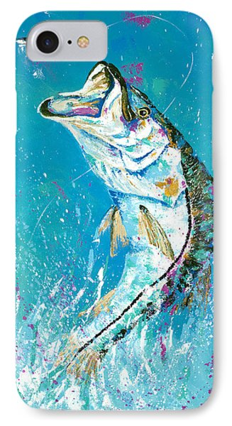 Pallet Knife Jumping Snook Phone Case by Kevin Brant