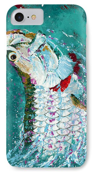Pallet Knife Jumping Tarpon Phone Case by Kevin Brant