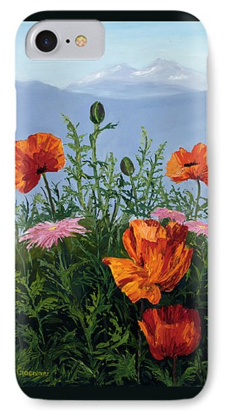 Pallet Knife Poppies IPhone Case by Mary Giacomini