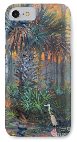 Palm And Egret Phone Case by Donald Maier