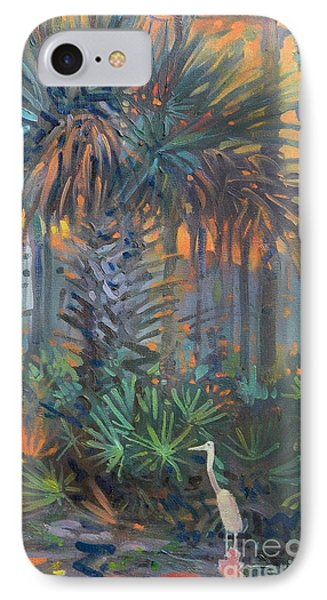Palm And Egret IPhone Case by Donald Maier