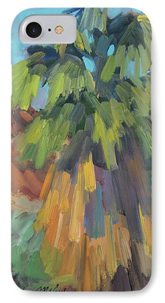 IPhone Case featuring the painting Palm At Santa Rosa Mountains Visitors Center by Diane McClary