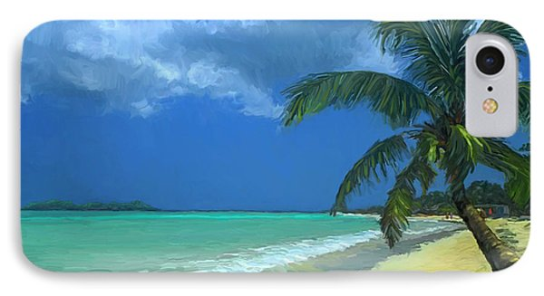 Palm Beach In The Keys IPhone Case by David  Van Hulst