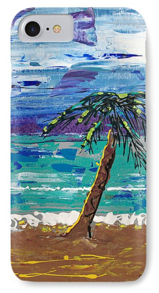 IPhone Case featuring the painting Palm Beach by J R Seymour