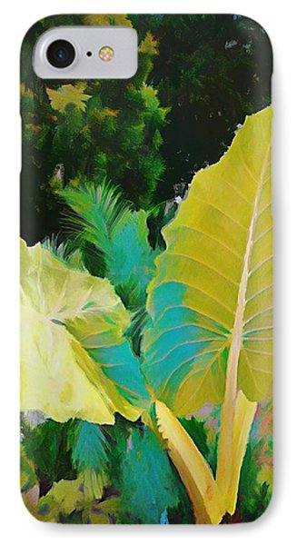 IPhone Case featuring the painting Palm Branches by Mindy Newman