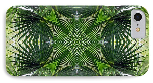 IPhone Case featuring the photograph Palm Frond Kaleidoscope by Francesa Miller