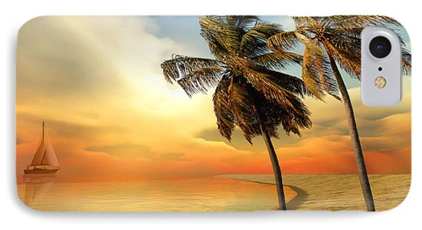 Palm Island Phone Case by Corey Ford