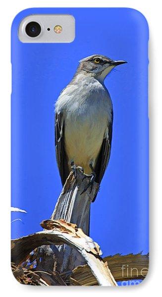 Palm Mocking Bird Phone Case by Deborah Benoit