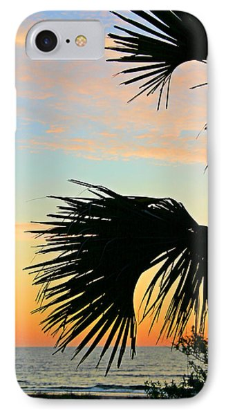 Palm Silhouette IPhone Case by Kristin Elmquist