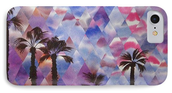 Palm Springs Sunset IPhone Case by Jeni Bate