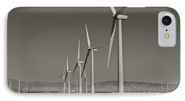 Palm Springs Windmills I In B And W IPhone Case by Kirsten Giving