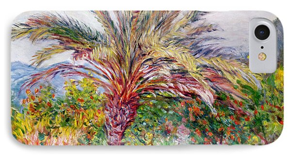 Palm Tree At Bordighera IPhone Case by Claude Monet