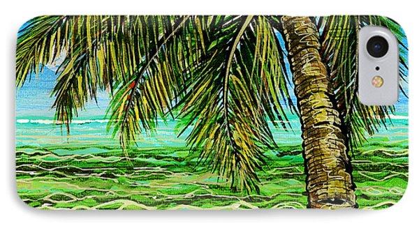 Palm Tree IPhone Case by Debbie Chamberlin